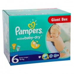 Giga Pack 144 couches Pampers Active Baby Dry sur Les Couches