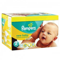 Pampers - Maxi mega pack 403 Couches Premium Protection taille 2