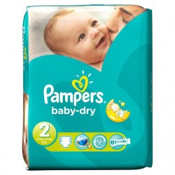Pampers - Pack 46 Couches Baby Dry taille 2 sur Les Couches