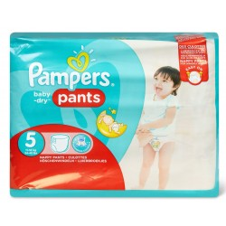 Pampers - Pack 22 Couches Baby Dry Pants taille 5 sur Les Couches