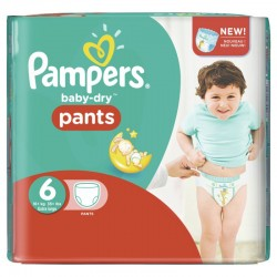 Pampers - Pack 58 Couches Baby Dry Pants taille 6