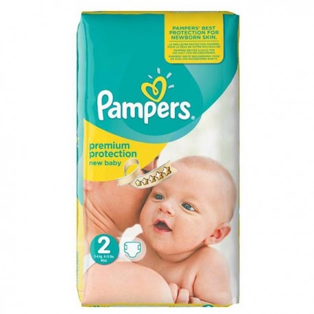 Pampers - Pack 31 Couches New Baby Premium Protection taille 2 sur Les Couches