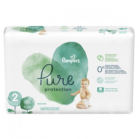 Pampers - Pack 27 Couches Pure Protection taille 2 sur Les Couches