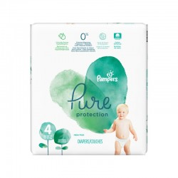 Pampers - Pack 19 Couches Pure Protection taille 4 sur Les Couches