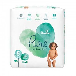 Pampers - Pack 17 Couches Pure Protection taille 5 sur Les Couches