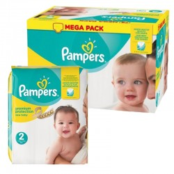 Pampers - Mega pack 124 Couches New Baby Premium Protection taille 2 sur Les Couches