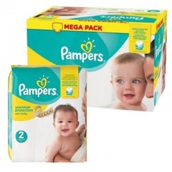 Pampers - 155 Couches New Baby Premium Protection taille 2 sur Les Couches