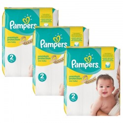 Pampers - 341 Couches New Baby Premium Protection taille 2 sur Les Couches