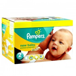 Pampers - Maxi mega pack 403 Couches New Baby Premium Protection taille 2 sur Les Couches