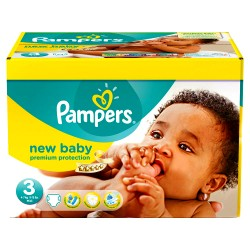 Pampers - 180 Couches New Baby Premium Protection taille 3 sur Les Couches