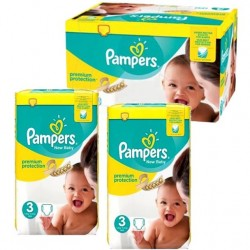 Pampers - 420 Couches New Baby Premium Protection taille 3 sur Les Couches