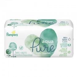 Pampers - Pack 48 Lingettes Bébés Aqua Pure sur Les Couches