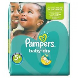 Pampers - Pack 22 Couches Baby Dry taille 5+ sur Les Couches