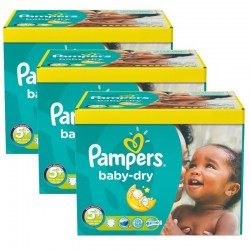 Pampers - Giga pack 242 Couches Baby Dry taille 5+ sur Les Couches