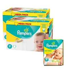 Pampers - Maxi mega pack 400 Couches New Baby Premium Protection taille 2 sur Les Couches