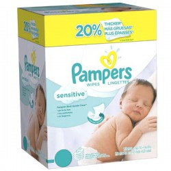 Pampers - 648 Lingettes Bébés Sensitive - 12 Packs de 56 sur Les Couches