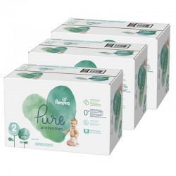 Pampers - Giga pack 297 Couches Pure Protection taille 2 sur Les Couches