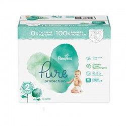 Pampers - Maxi mega pack 405 Couches Pure Protection taille 2 sur Les Couches