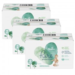 Pampers - Maxi mega pack 432 Couches Pure Protection taille 2