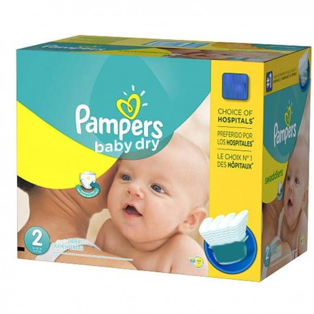 Pampers - Mega pack 138 Couches Baby Dry taille 2 sur Les Couches