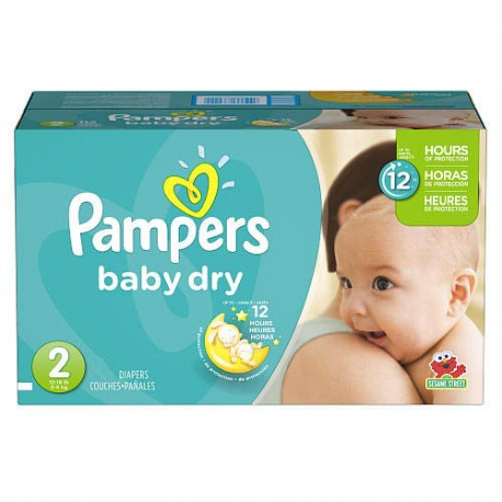 Pampers - Giga pack 276 Couches Baby Dry taille 2 sur Les Couches