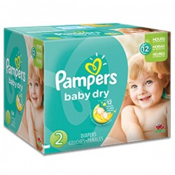 Pampers - Maxi giga pack 322 Couches Baby Dry taille 2 sur Les Couches