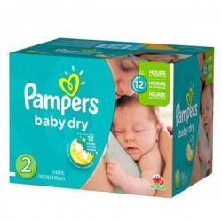 Pampers - Maxi mega pack 414 Couches Baby Dry taille 2 sur Les Couches