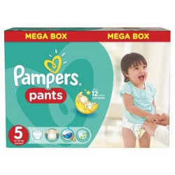 Pampers - Pack 44 Couches Baby Dry Pants taille 5 sur Les Couches