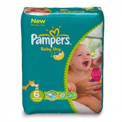 Pampers - 58 Couches Baby Dry taille 6 sur Les Couches