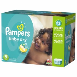 Pampers - Giga pack 242 Couches Baby Dry taille 5 sur Les Couches