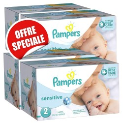 Pampers - Giga pack 240 Couches New Baby Sensitive taille 2 sur Les Couches