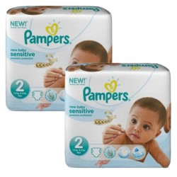 Pampers - 300 300 Couches New Baby Sensitive taille 2 sur Les Couches