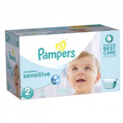 Pampers - Maxi mega pack 480 Couches New Baby Sensitive taille 2 sur Les Couches