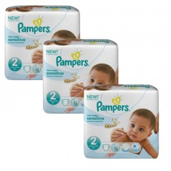 Pampers - 600 Couches New Baby Sensitive taille 2 sur Les Couches