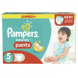 Pampers - Mega pack 104 Couches Baby Dry Pants taille 5