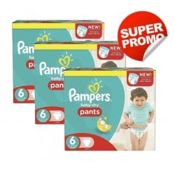 Pampers - Pack 28 Couches Baby Dry Pants taille 6 sur Les Couches