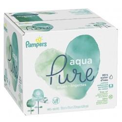 Pampers - 580 1344 Lingettes Bébés Aqua Pure sur Les Couches