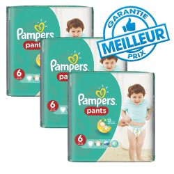 Pampers - Pack 98 Couches Baby Dry Pants taille 6 sur Les Couches