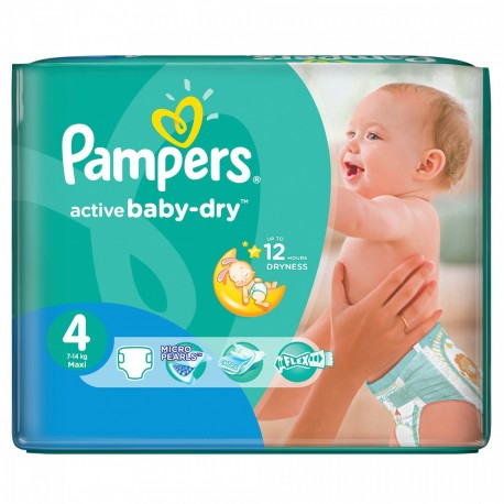 Pampers - 13 Couches Active Baby Dry taille 4 sur Les Couches