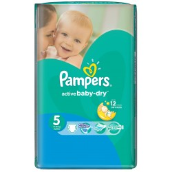 Pampers - 11 Couches Active Baby Dry taille 5