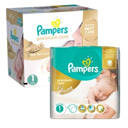 Pampers - 88 Couches New Baby Premium Care taille 1 sur Les Couches