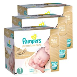 Pampers - 110 Couches New Baby Premium Care taille 1 sur Les Couches