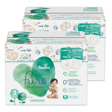 Pampers - Pack 44 Couches Pure Protection taille 3 sur Les Couches