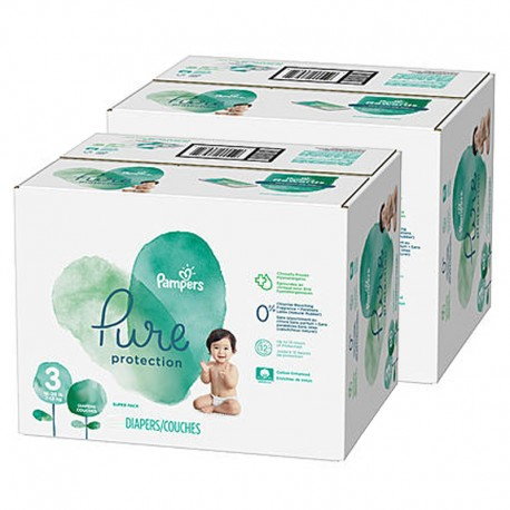 Pampers - Mega pack 110 Couches Pure Protection taille 3 sur Les Couches