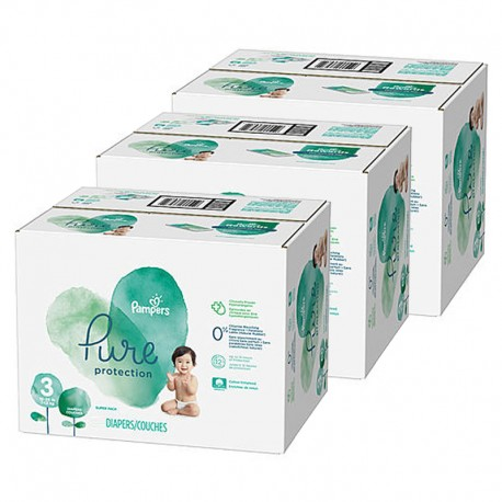 Pampers - Mega pack 176 Couches Pure Protection taille 3 sur Les Couches