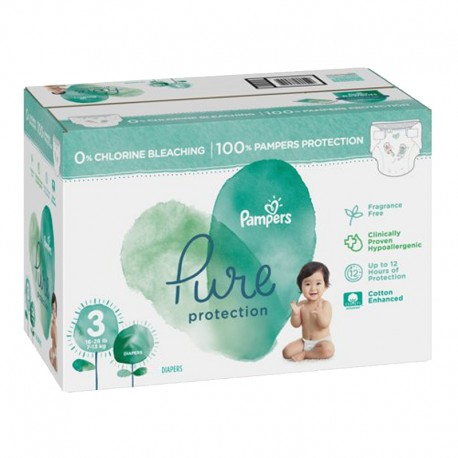 Pampers - Giga pack 220 Couches Pure Protection taille 3 sur Les Couches
