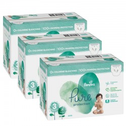 Pampers - Giga pack 264 Couches Pure Protection taille 3 sur Les Couches