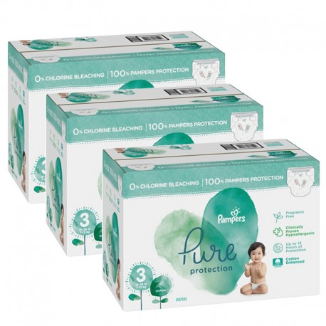 Pampers - Maxi giga pack 352 Couches Pure Protection taille 3 sur Les Couches