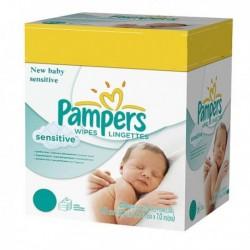 Pampers - Giga pack 280 Lingettes Bébés New Baby Sensitive sur Les Couches