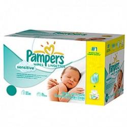 Pampers - Maxi mega pack 448 Lingettes Bébés New Baby Sensitive sur Les Couches